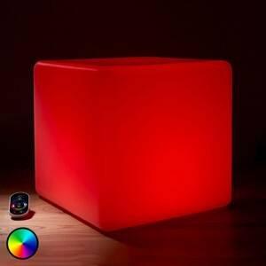 Epstein Svietiaca vonkajšia LED dekorácia Kocka RGB 35cm