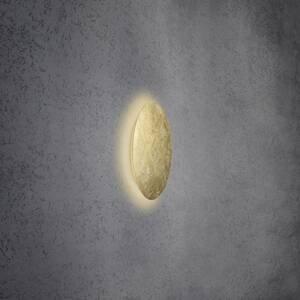 Escale Escale Blade nástenné LED, lístkové zlato, Ø 34cm