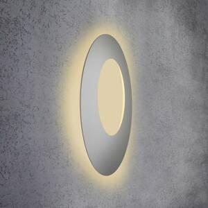 Escale Escale Blade Open nástenné LED striebro, Ø 79cm