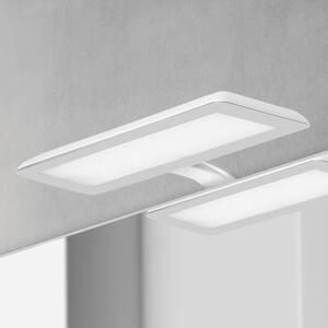 Ebir Zrkadlové LED svietidlo Nikita, biela/oceľovosivá