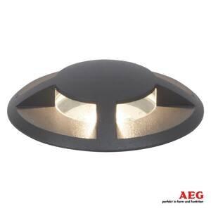 AEG AEG Tritax – podlahové LED svetlo, štvorstranné