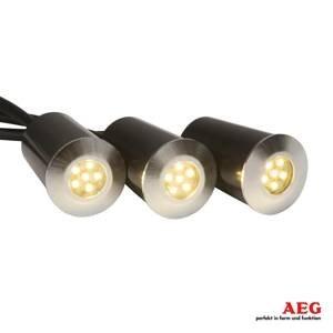 AEG AEG Albedo – podlahové LED svetlo v súprave 3ks
