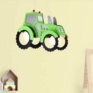 Elobra Závesná lampa Traktor pre detskú izbu