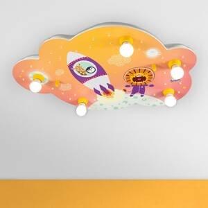 Elobra Stropné svietidlo Obrázkový oblak Escape oranžové