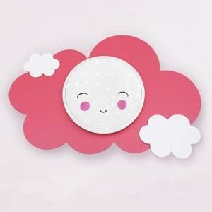 Elobra Nástenné LED Obrázkový oblak Starlight Smile, ruža
