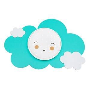 Elobra Nástenné LED Obrázkový oblak Starlight Smile mäta