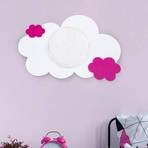 Elobra Nástenné LED svietidlo oblak Starlight, ružové