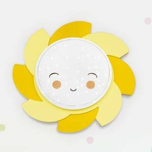 Elobra Nástenné LED svietidlo Slnko Starlight Smile žlté