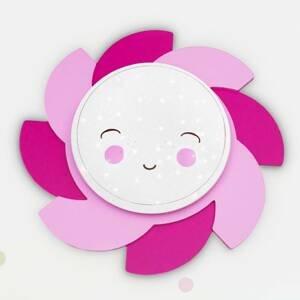 Elobra Nástenné LED Slnko Starlight Smile ružové