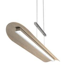 Elobra Závesné LED svietidlo Colombia XL povápnený dub