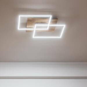Elobra Stropné LED svietidlo Panama S, prírodný dub
