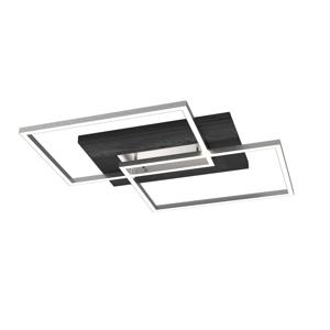 Elobra Stropné LED svietidlo Panama L čierny dub