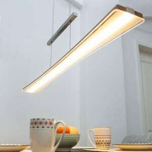 Elobra Závesné LED svietidlo Panama, prírodný dub