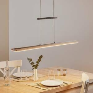 Elobra Závesné LED svietidlo Panama, povápnený dub