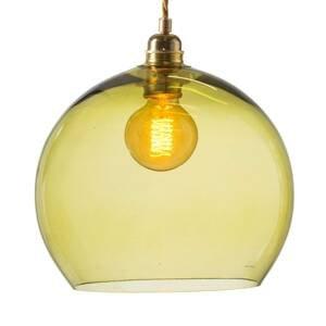 EBB & FLOW EBB & FLOW Rowan závesná lampa zlatá/olivová Ø 28