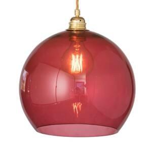 EBB & FLOW EBB & FLOW Rowan závesná lampa zlatá/červená Ø28