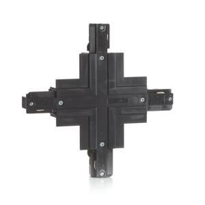 EUTRAC Eutrac X-konektor 3-fázy montážna koľajnica čierna