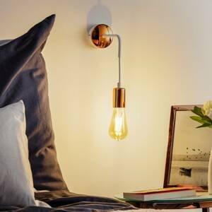 EMIBIG LIGHTING Nástenné svietidlo Spark K1 v bielej a medenej