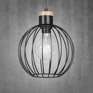 EMIBIG LIGHTING Závesná lampa Barbado, jedno-plameňová, čierna