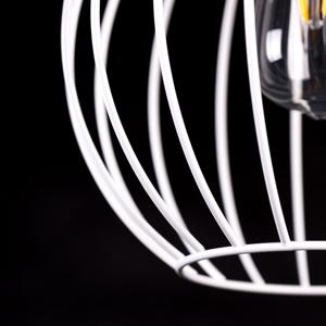 EMIBIG LIGHTING Závesná lampa Barbado, troj-plameňová v bielej