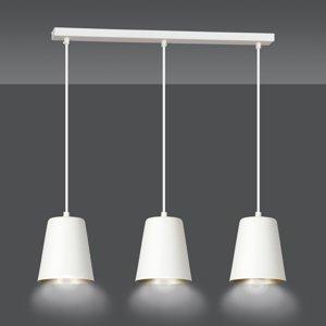EMIBIG LIGHTING Závesná lampa Milagro, troj-plameňová, biela/zlatá