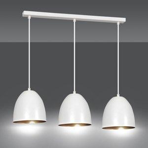 EMIBIG LIGHTING Závesná lampa Lenox, troj-plameňová, biela-zlatá