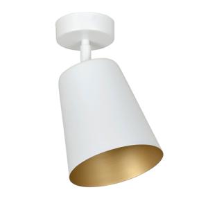 EMIBIG LIGHTING Stropné svietidlo Prism oceľ 1-pl. biele/zlaté