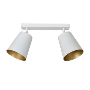 EMIBIG LIGHTING Stropné svietidlo Prism, 2-pl., biele/zlaté