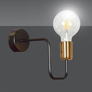 EMIBIG LIGHTING Nástenné svietidlo Veken K1 v čiernej a medenej