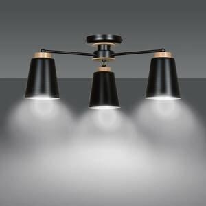 EMIBIG LIGHTING Stropné svietidlo Periot s tromi tienidlami čierne