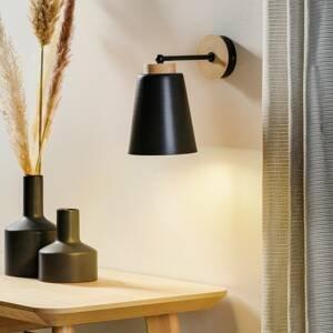 EMIBIG LIGHTING Nástenné svietidlo Periot K1 drevená deko čierne