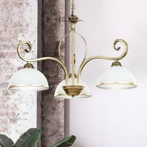 EMIBIG LIGHTING Závesná lampa Wivara 3, troj-plameňová, zlatá