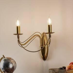 EMIBIG LIGHTING Nástenné svietidlo Tori K2 v tvare lampy zlaté