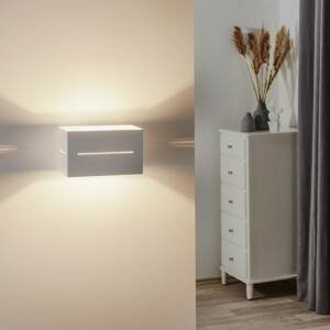 EMIBIG LIGHTING Nástenné svietidlo Vito v kubickom tvare, biele