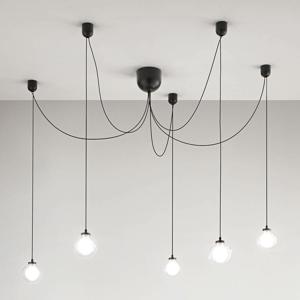Fabas Luce Závesné LED svietidlo Blog, 5-plameňové