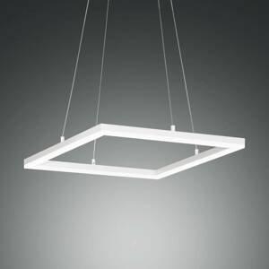 Fabas Luce Závesné LED svietidlo Bard, 42 x 42cm v bielej