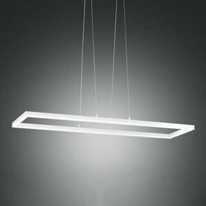 Fabas Luce Závesné LED svietidlo Bard 92 x 32cm v bielej