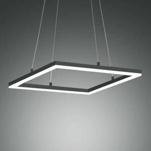 Fabas Luce Stropné LED svietidlo Bard 42x42cm antracit