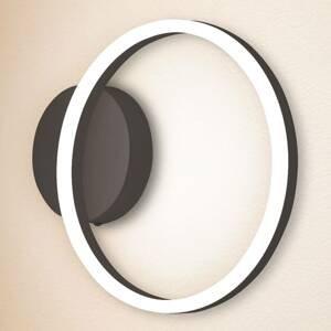Fabas Luce Nástenné LED svietidlo Giotto 1-plameňové čierne