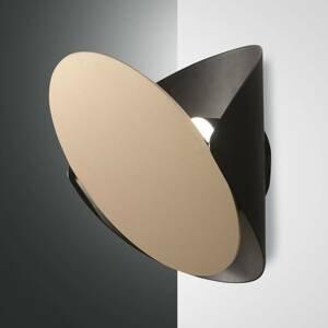 Fabas Luce Nástenné LED svietidlo Shield, čierno-zlaté