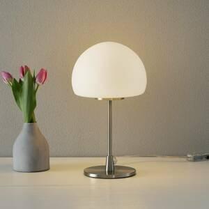 Fabas Luce Stolná lampa Gaia Big s dotykovou funkciou, biela