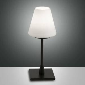 Fabas Luce Stolná LED lampa Lucy dotykový stmievač čierna