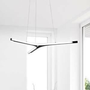 Fabas Luce Závesné LED svietidlo Lira, stmievateľné, čierne