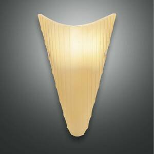 Fabas Luce Nástenné svietidlo Fly sklenené tienidlo jantár