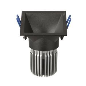 ATILED Zapustené LED Toodle hranaté asymetrické, čierne