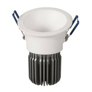 ATILED Zapustené LED Toodle okrúhle asymetrické, biele