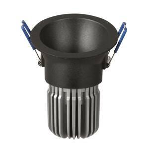 ATILED Zapustené LED Toodle okrúhle asymetrické, čierne