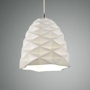 Fabas Luce Závesná lampa Duchessa z keramiky, Ø 20cm