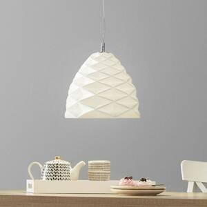 Fabas Luce Závesná lampa Duchessa z keramiky, Ø 30cm