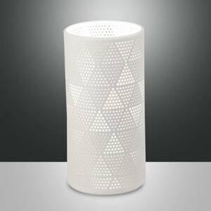 Fabas Luce Stolná lampa Micol z keramiky, výška 20cm